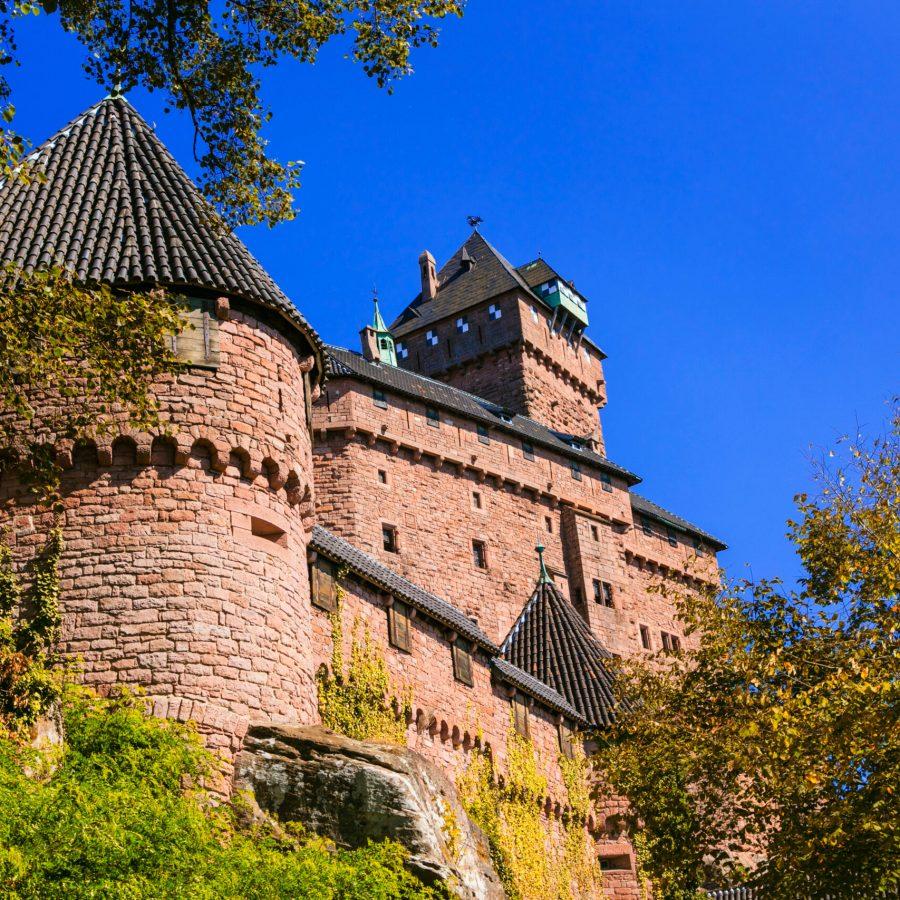 Castle Haut-Koenigsbourg  - impressive medieval fortress in Fran